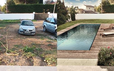 Projet de piscine avec terrasse bois