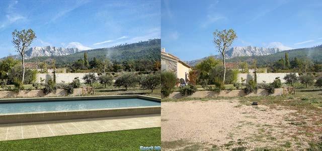 Visuel 3d d'un projet de piscine