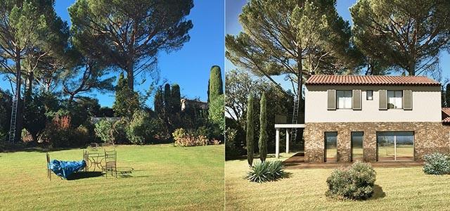 Visuel 3d pour un projet de villa