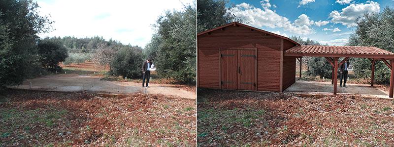 insertion 3d projet abris de jardin