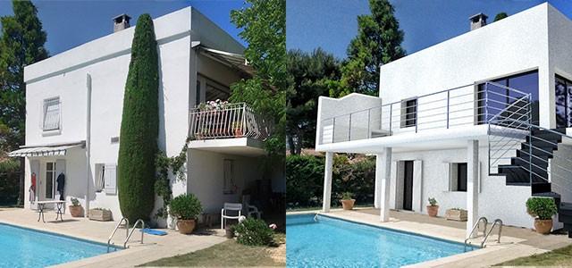 Insertion 3d d 39 un projet de piscine avec terrasse for Projet 3d maison