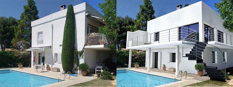 extension maison permis de construire stunning extension maison ou maison with extension maison. Black Bedroom Furniture Sets. Home Design Ideas