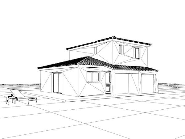 Une maison individuelle dans le sud ouest provence for Modelisation maison 3d