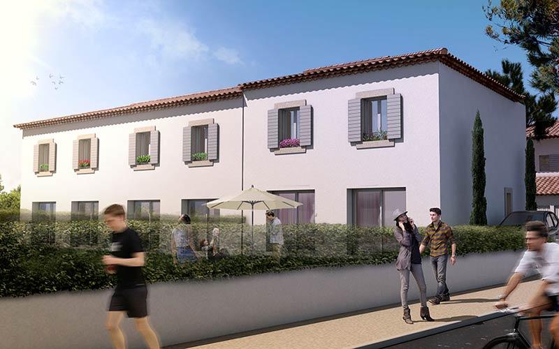 """Image 3d promotion immobilière """"Résidence Alice"""""""