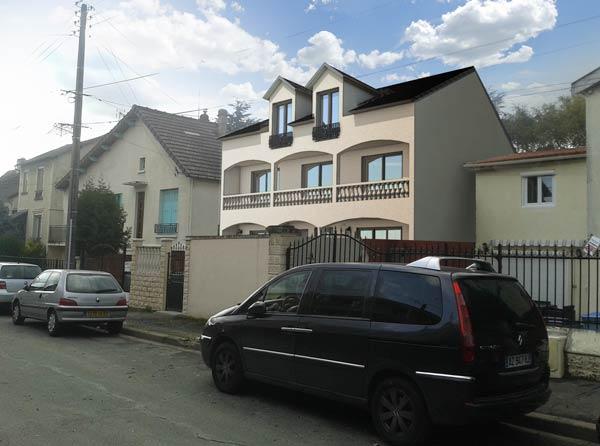 insertion 3d d'un projet de maison individuelle vue 1