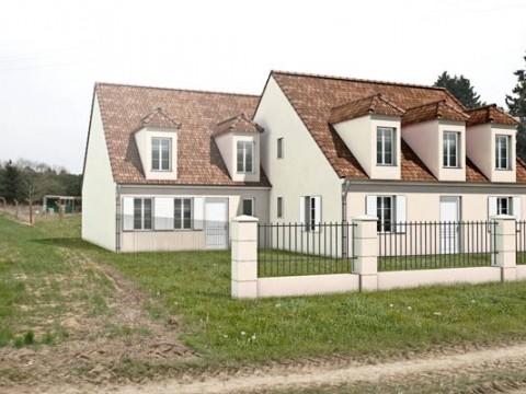 Visuel 3D pour deux habitations à la campagne