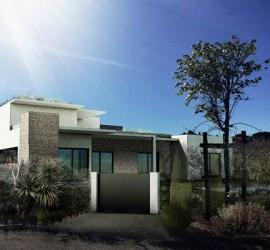 Projet 3d de maison contemporaine