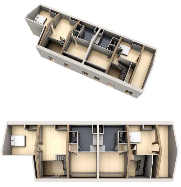 maquette 3d pour appartements